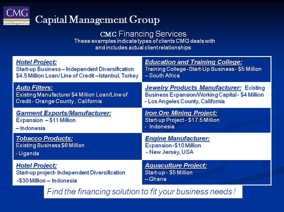 CMG Financing Services